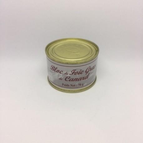 Bloc de Foie Gras de Canard 70 g